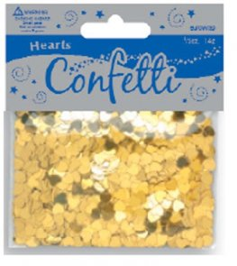 Gold Metallic Heart Confetti
