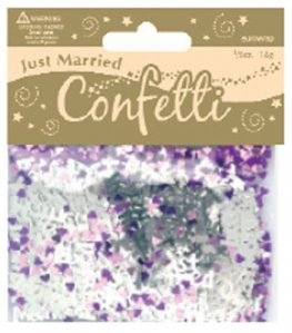 Just Married Matallic Confetti