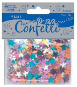 Metallic Stars Assorted Confetti