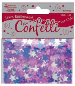 Embossed Star Confetti