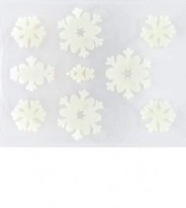 Snowflakes Gel Window Stickers 10pk