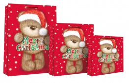 Knitted Bear Merry Christmas Gift Bags