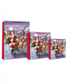 Traditional Santa Scene Christmas Gift Bags