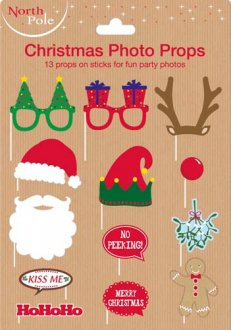 Christmas Themed Photo Props 12pc