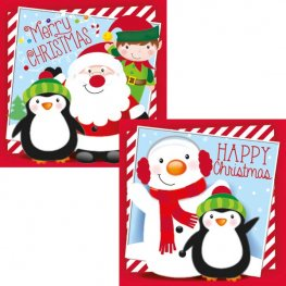 Cute Novelty Christmas Cards 12pk