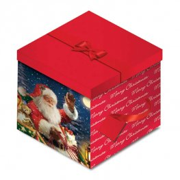 Santa Christmas Square Gift Box