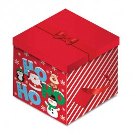 Hohoho Christmas Square Gift Box