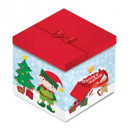 Elf Christmas Square Gift Box
