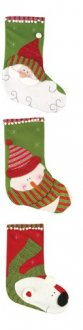 Assorted Design Luxury Christmas Stockings x1