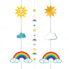 Fun Sun, Rainbow & Clouds Balloon Strings