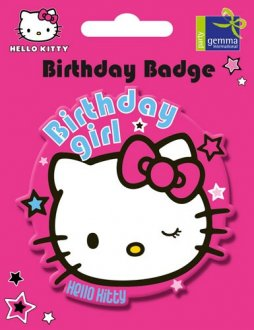 Hello Kitty Pink Jumbo Birthday Badge
