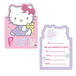 Hello Kitty Invites x6