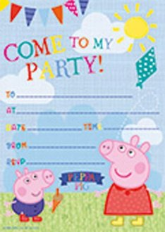 Pepper Pig Party Invitations x20