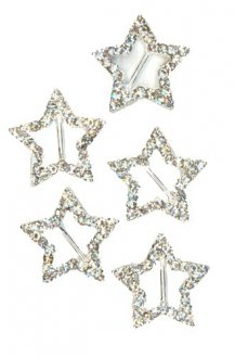 Silver Diamante Star Shape Buckle