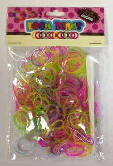 Glow In The Dark Loom Bands x 300