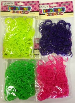Scented Neon Loom Bands x 300