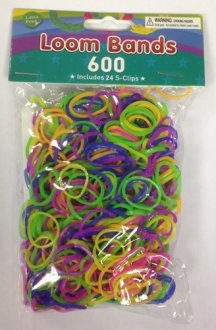 Neon Assorted Loom Bands x 600