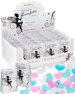 Paper Shaped Hearts Wedding Confetti x24