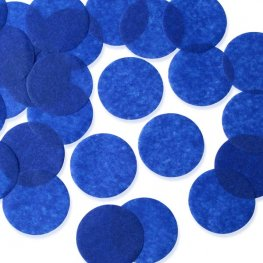 Royal Blue 25mm Circular Tissue Confetti 100gm