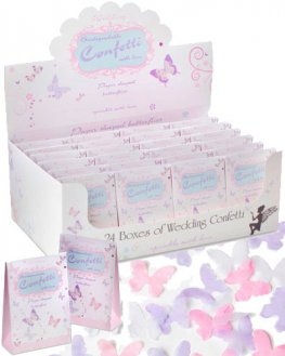 Paper Shaped Butterflies Wedding Confetti x24