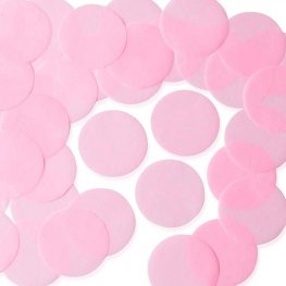 Light Pink 55mm Circular Tissue Confetti 250gm