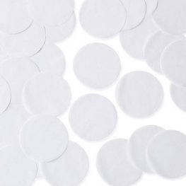 White 55mm Circular Tissue Confetti 250gm
