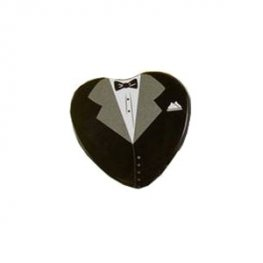 Groom Heart Shape Wedding Favour Tin
