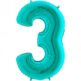 "40"" Tiffany Number 3 Supershape Balloons"