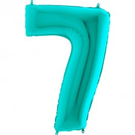 "40"" Tiffany Number 7 Supershape Balloons"