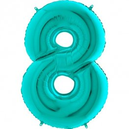"40"" Tiffany Number 8 Supershape Balloons"