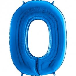 "26"" Blue Number 0 Shape Balloons"