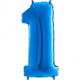 "26"" Blue Number 1 Shape Balloons"