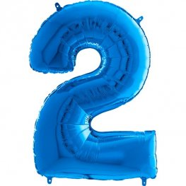 "26"" Blue Number 2 Shape Balloons"