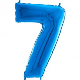 "26"" Blue Number 7 Shape Balloons"