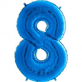 "26"" Blue Number 8 Shape Balloons"