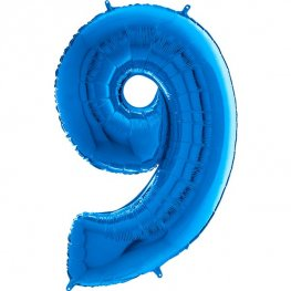 "26"" Blue Number 9 Shape Balloons"