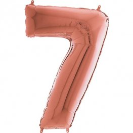 "26"" Grabo Rose Gold Number 7 Shape Balloons"
