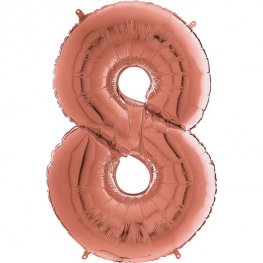 "26"" Grabo Rose Gold Number 8 Shape Balloons"