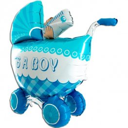 3D Its A Boy Buggy Shape Balloons