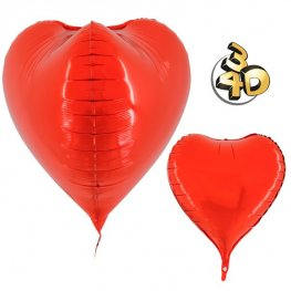 "23"" Red 3D Heart Foil Balloons"