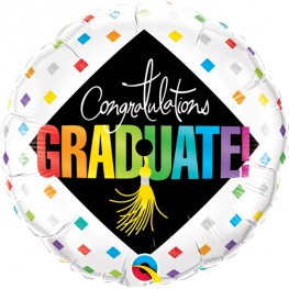 "18"" Graduate Cap And Diamonds Foil Balloons"