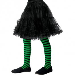 Green And Black Wicked Witch Tights