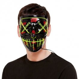 Neon Green Stitch Face Mask