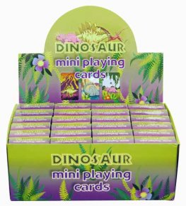 Dinosaur Mini Playing Cards x2 Dozen