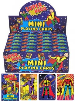 Super Hero Mini Playing Cards x2 Dozen