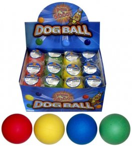 Hard Rubber Dog Balls x24