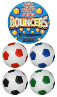35mm Football Jet Bouncy Balls x100