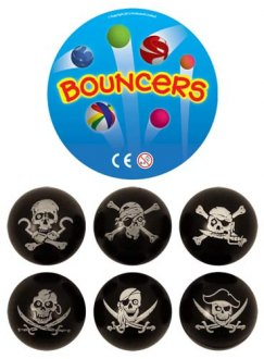 Pirate Bouncy Jet Balls x100