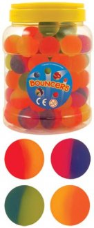 Frosted Split Bouncy Jet Balls x6 Dozen