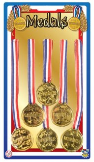 Gold Winner Medal 6pk